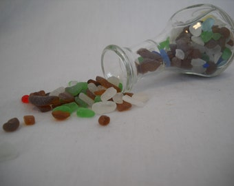 Tiny Sea Glass In Miniature Vase From Pacific Northwest Genuine Sea Glass Jar Sea Glass
