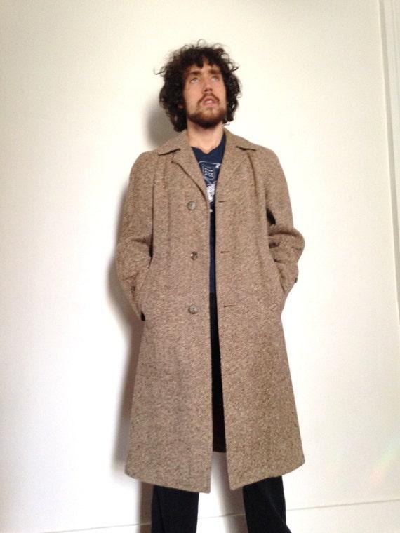 30er vintage herren tweed mantel lange wanamaker medium. Black Bedroom Furniture Sets. Home Design Ideas