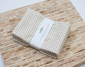 Large Cloth Napkins - Set of 4 - (N1874) - Dots Modern Reusable Fabric Napkins