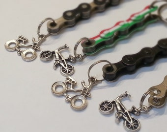 Bike Chain Keychain with BMX Bike Charm - KEBIKE01