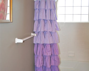 Popular items for ombre ruffle on etsy for Purple ombre shower curtain