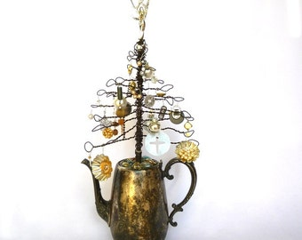 WIRE ART Jewelry TREE/ Ornamental Tree/ Wire Craft/ Upcycled craft
