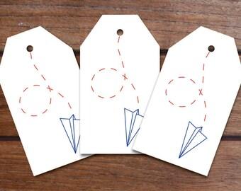 Paper Air Gift Tag Set (10 Tags)