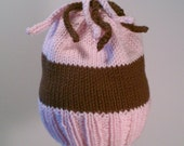Jack & Jill Baby Hat With Top Knot Curls