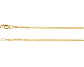 14kt yellow gold cable chain chain 1.75 mm