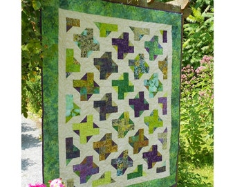 Quilt Patterns - Goddess Greens - Quilt Pattern Crib to King sizes - Intermediate