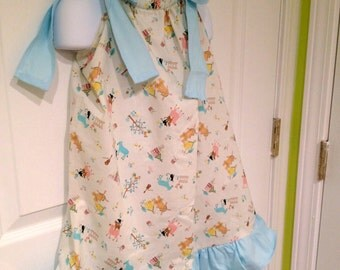 PIllow Case Dress with Wide Ties