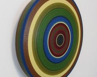 "Ring Painting, Oil on Round Panel - 20"" diameter #83"