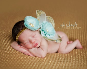 The ANGELIQUE Wing Set - Wings and Headband Included - Preemie Size on Up