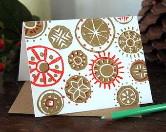 Ornaments / Single Letterpress Card