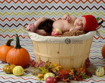 Apple Beanie Hat...........newborn size