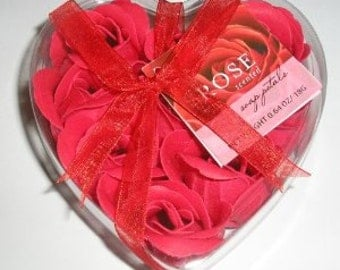 RED Rose Scented Soap Petals