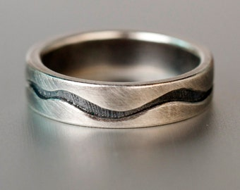 RIVER RING - Antiqued Sterling Silver