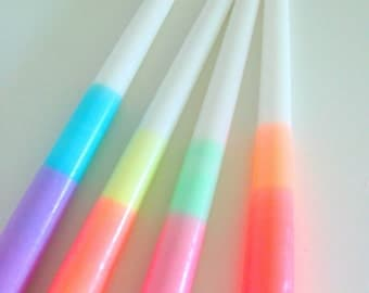 Ombre Dip-Dye Candles