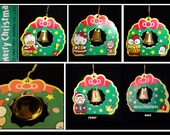 1976, 91 Sanrio Characters Christmas Trinket/Ornament with Gold Ringing Bell - Very Rare - NEW