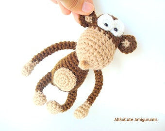 Crochet Pattern, Amigurumi Pattern, Amigurumi Monkey Pattern, Tutorial, instant download