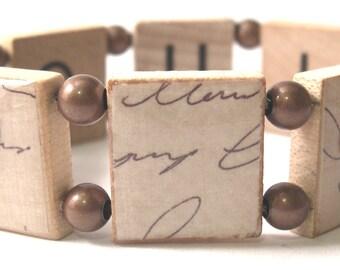 I Love You Scrabble Bracelet
