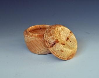 Turned Box in French Ash Burl (price reduction)