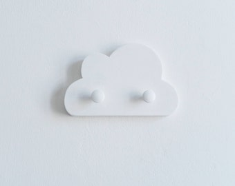 Cloud Wall Hook White Wooden Cloud Coatrack Kids Wall Hook Kids Coat rack Cloud Coatrack Gift for Baby Shower White Baby Girl Room Decor