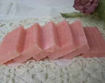 DIY FAVORS, plain mini soaps, pink soaps, Pink soaps with Lavender scent