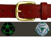 Colorful Soccer Ball Needlepoint Belt Canvas