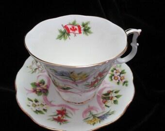 Royal Albert  Canadian Emblems Cup and Saucer