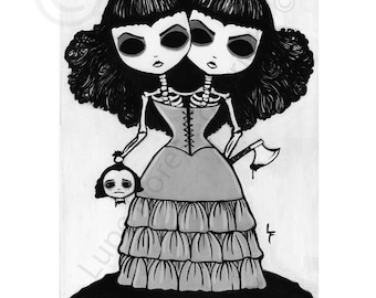 Evil Twins 8x10 art print by Lupe Flores