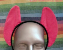 Hot Pink MLP Pony Cosplay Ears on a Headband - READY 2 SHIP