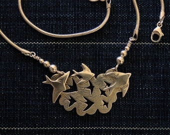Flock of Swallows Necklace #2