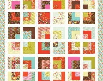 Instant Download - PDF Quilt Pattern - Squre Root- Easy Layer Cake Quilt Pattern