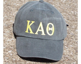 Kappa Alpha Theta baseball cap with embroidered greek letters