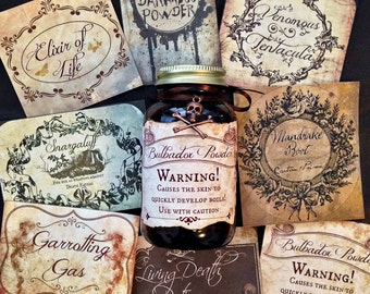 Harry Potter Inspired Sticker Label Assortment
