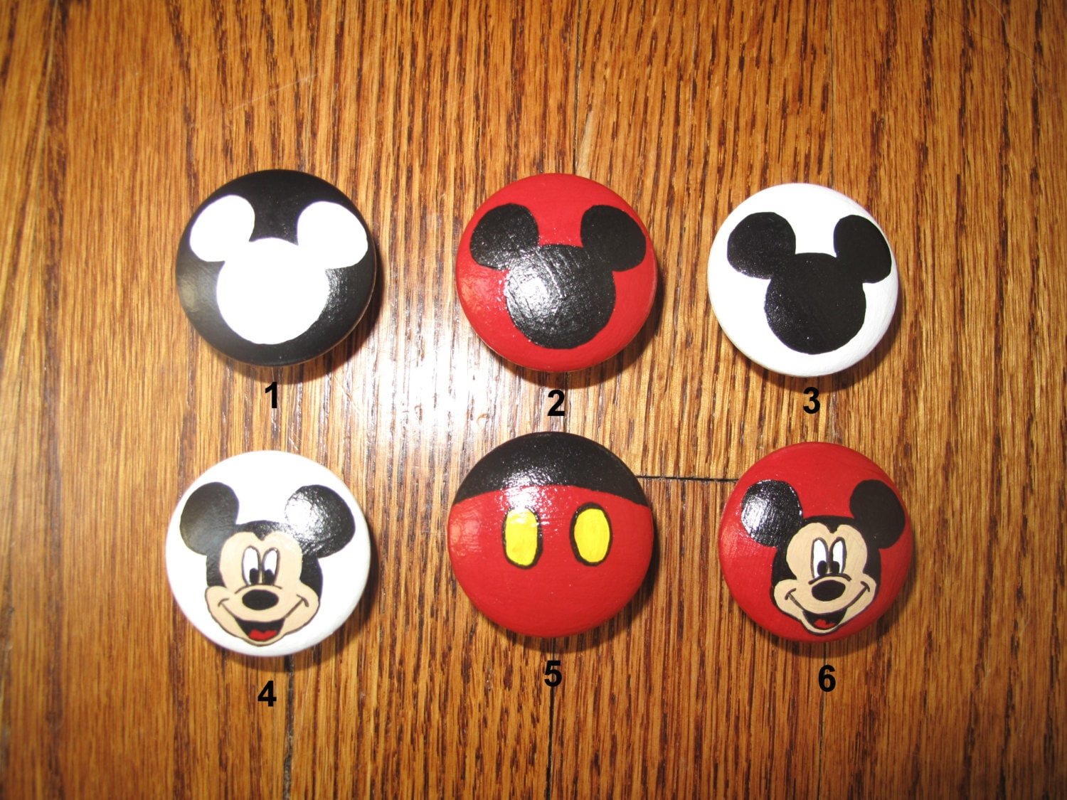 Customized Mickey Mouse Dresser Knobs