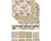 """Scrapbooking Craft Paper Pack (24pcs 6""""x6"""") FLONZ 005 Romantic Floral Patterns"""