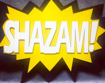 LARGE Comic Book SHAZAM! Quote Wall Art/Plaque
