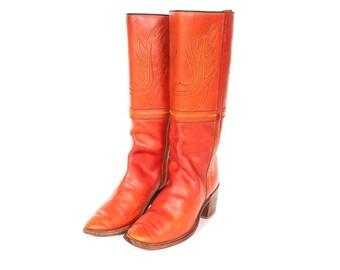 1970s Woman's Hippie Boots Size 8.5 M