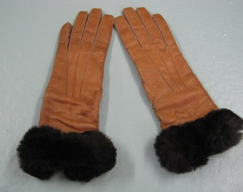 Vintage womens gloves, small, leather