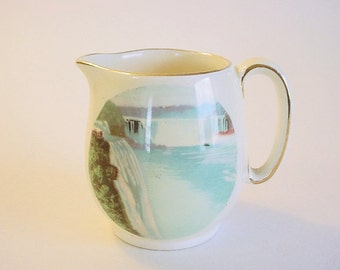NIAGARA FALLS- Tiny Vintage Porcelain Souvenir Creamer- Royal Winton, Grimwades England