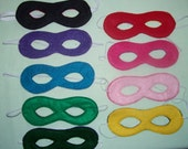 Set of 10 Basic you can be whatever you want child's felt mask with reinforced elastic band