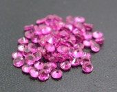 2mm Round Synthetic Red Ruby #5 Loose Gemstones Lot