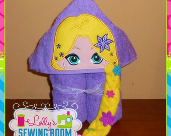 Princess Rapunzel hooded towel - can be personalized