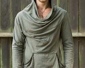 Mens Hooded Long Sleeve Top.