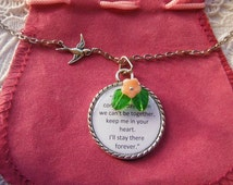 Winnie The Pooh Quote If There Ever Comes A Day Czech Glass Flower And Leaves