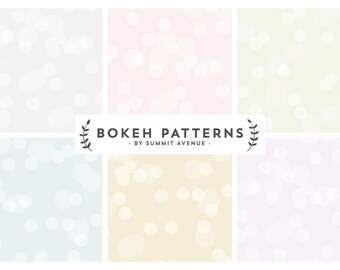 Seamless Bokeh Paterns & Papers - Blog or Web backgrounds
