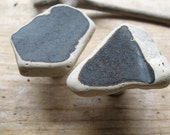 Beach Glass Knobs CERAMIC EARTHENWARE Sea Glass Cabinent Knobs