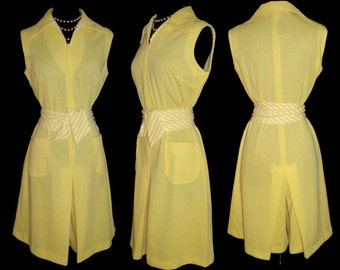 Vintage 1960s Dress . Culottes NOS Femme Fatale Garden Party Mad Man Pinup Bombshell Rockabilly Wedding Cocktail Party
