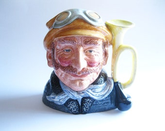 The Motorist Royal Doulton Character Toby Jug Vintage 1972 Large Size Automobile  -FL