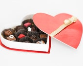 Reserved: Miniature Heart Shaped Box of Chocolates