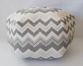 "24"" Ottoman Pouf Floor Pillow Zazzle Nova Birch"