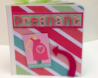 I'm pregnant  5x5 Board Book baby shower, new baby, mommy-to-be, we're expecting